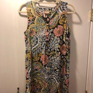 Loft Outlet patterned mini dress, size M